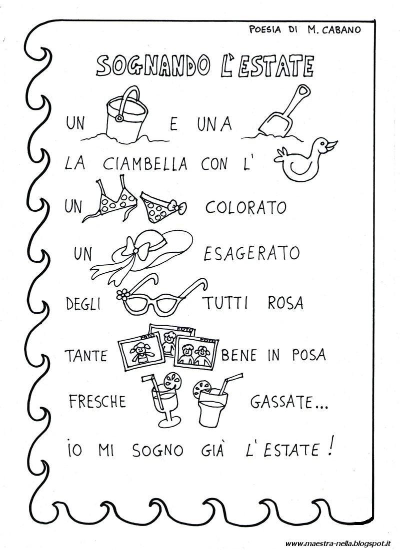 Maestra nella poesia illustrata sull 39 estate for Idee per l accoglienza nella scuola dell infanzia