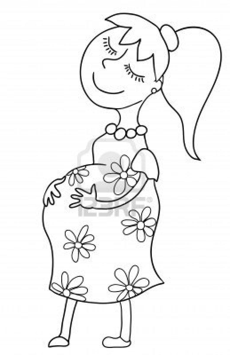 Dibujos Para Colorear De Bebes En El Vientre ~ Ideas Creativas Sobre ...