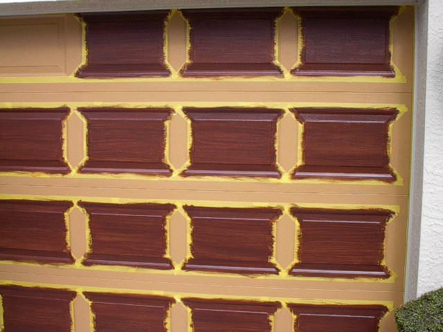 Garage door tutorial everything i create paint garage for How to paint faux wood garage doors