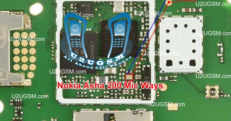 Solution Mobile  Nokia Asha 201 Mic Point    Ways    Jumper