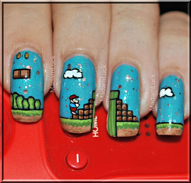 Awesome Nail Art: Awesome Nail Art Mario