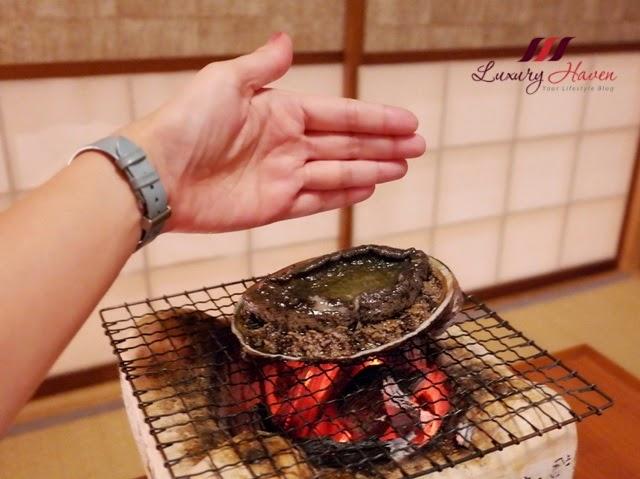 akasaka kitafuku live abalone awabi menu