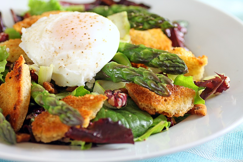 Asparagus And Poached Eggs Over Pasta Recipes — Dishmaps