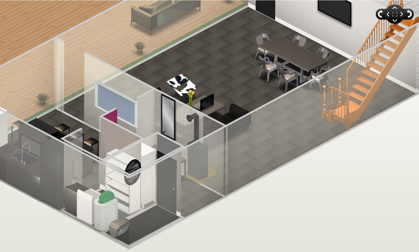 Les plans du loft en 3d et 2d for Plan de loft
