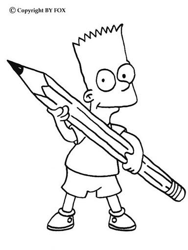 Manualidades forlayn dibujos para colorear varios - Bart simpson coloriage ...