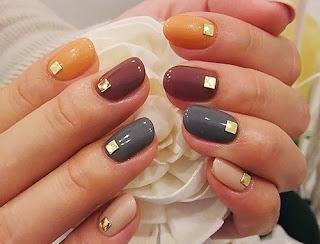jesienne kolory paznokci lodz