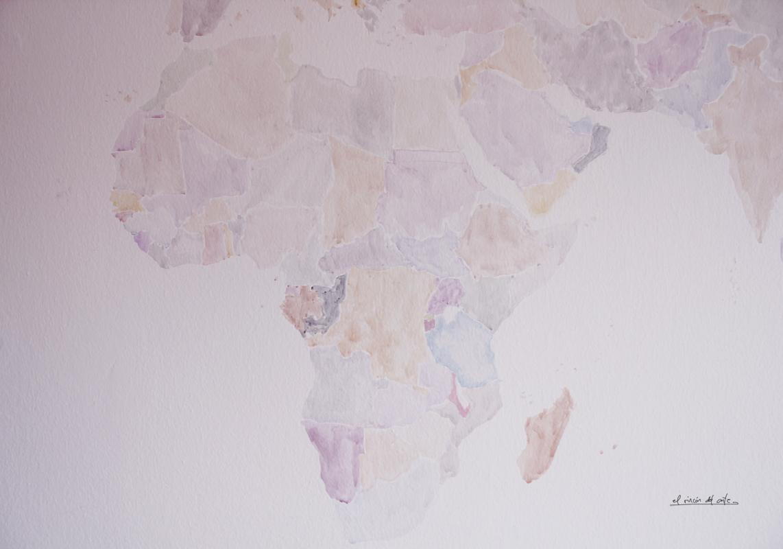 El rinc n del arte espacio creativo la vuelta al mundo - Mapa mundi mural ...