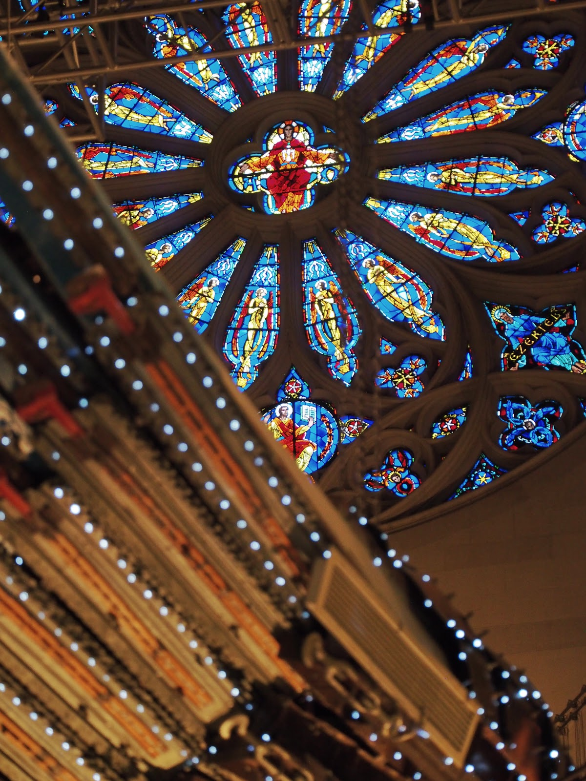 The Rose Window #therosewindow #rosewindow #phoenix  #xubing #stjohnthedivinecathedral #art #nyc ©2014 Nancy Lundebjerg