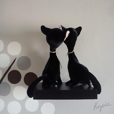 personalizowane maskotki czarne kotki