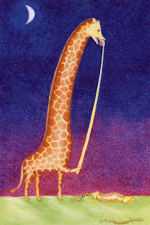 High Altitude Toothpaste - giraffe painting - Ingrid Sylvestre