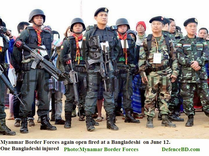 Myanmar Border Troops again open fired on Bangladeshi
