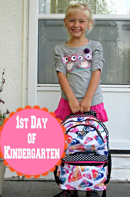 first day of kindergarten picture