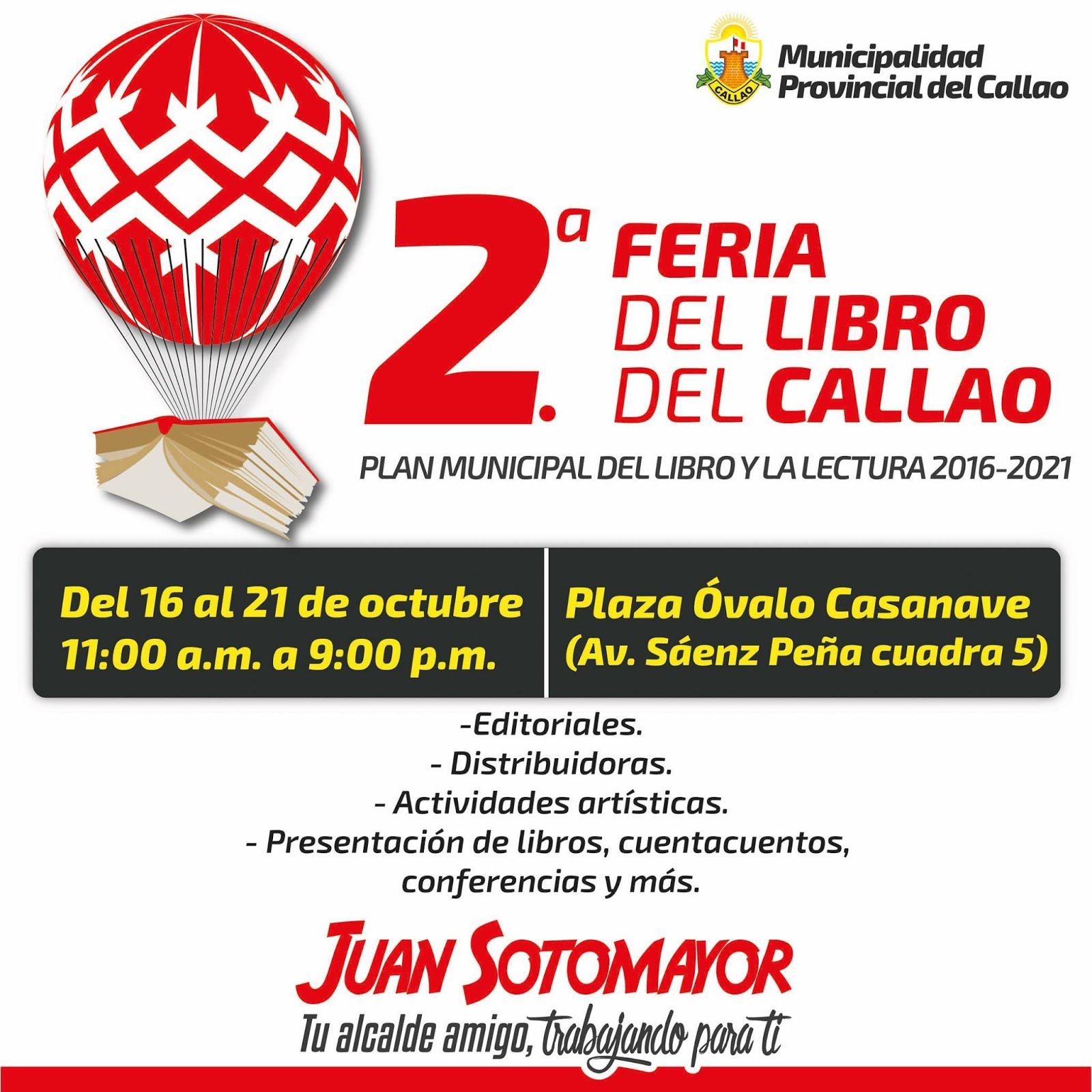 En 2da Feria del Libro del Callao (16 al 21 de octubre 2017)