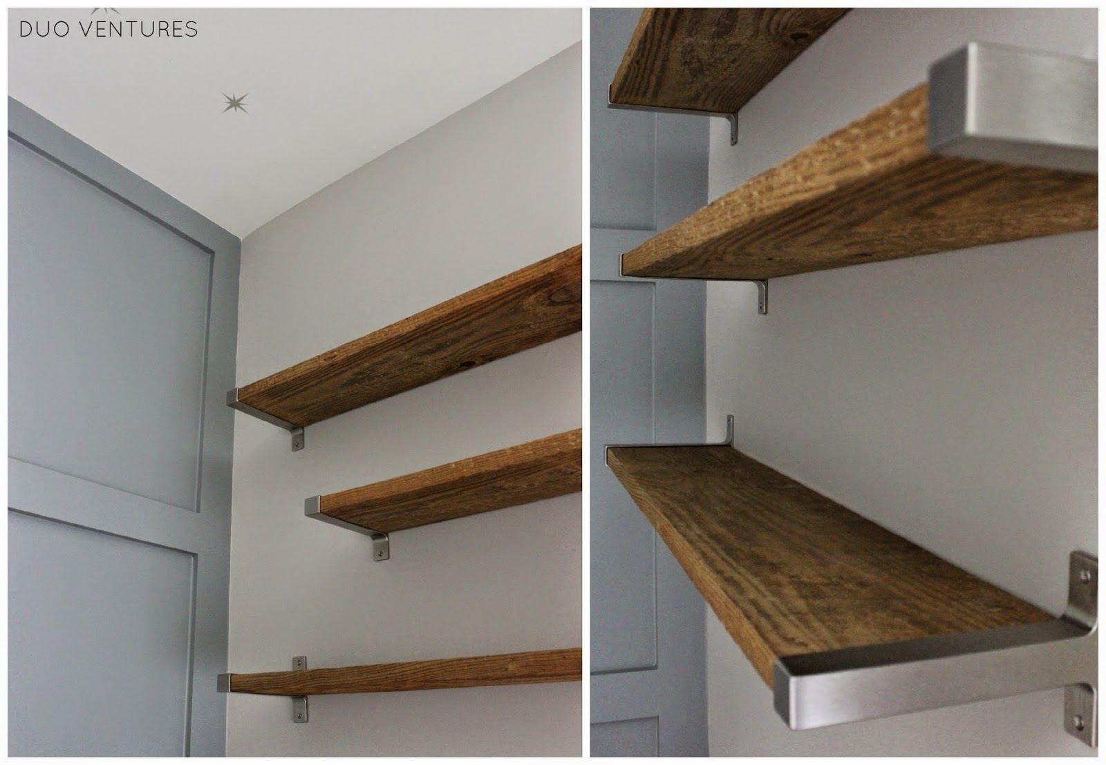 Duo Ventures The Nursery DIY Reclaimed Barnwood Shelves
