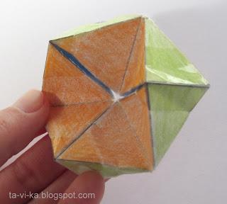 флексагон калейдоскоп из бумаги