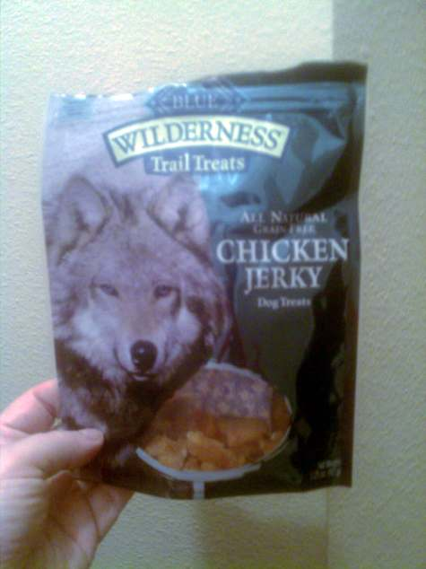 One out of one dogs named Rusty agree: Give me another chicken jerky treat!