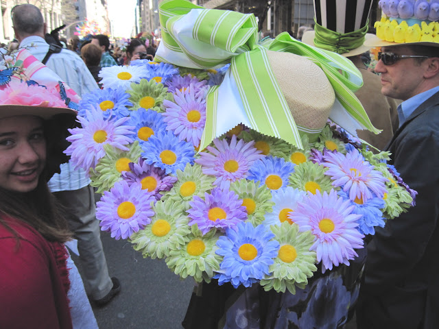 Nothing says Easter like a hat full of flowers