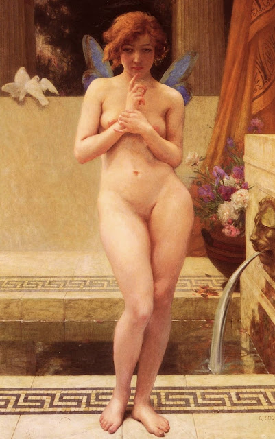 Nymph,Guillaume Seignac,painting
