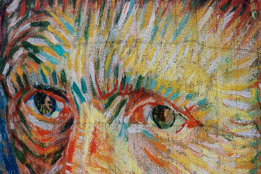 eyes of Vincent van Gogh
