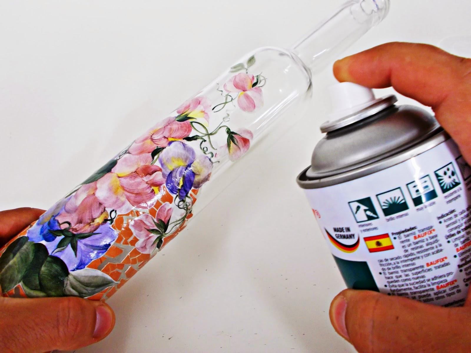 DIY-ideas decoración-reciclaje-diogeneras-botella-cristal-vidrio-cáscaras de huevo-decoupage-6