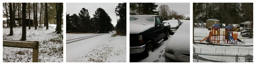 Snow in Alexandria Louisiana