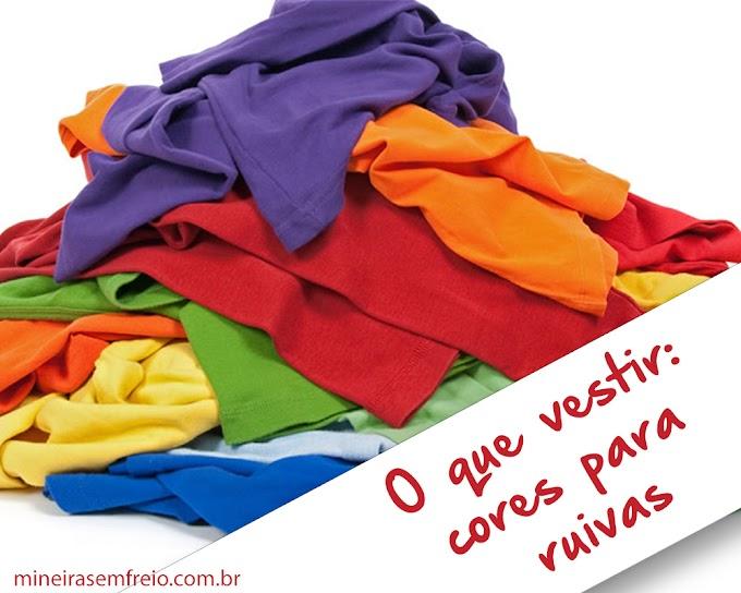 O que vestir: cores para ruivas