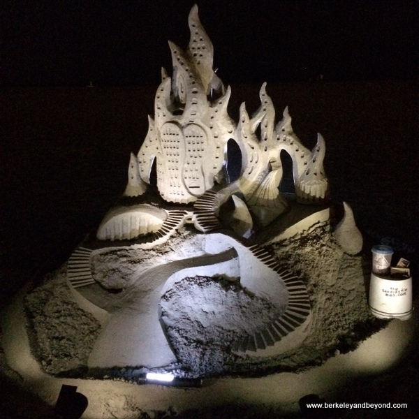 sandcastle at Hotel del Coronado on Coronado Island in San Diego, California