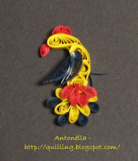 quilling quilled folk art bird