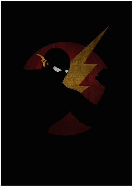 Lily's Factory ilustrações quadrinhos super heróis marvel dc sombras minimalistas Flash