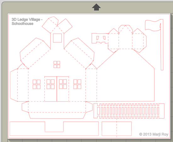 3d House Template The school house is different