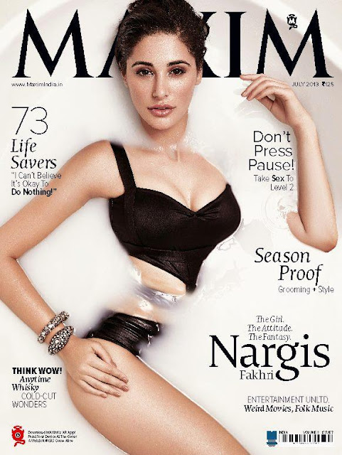 Nargis Fakhri's bold photoshoot for Maxim july 2013