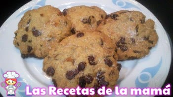 Receta de Galletas con pepitas de chocolate o cookies
