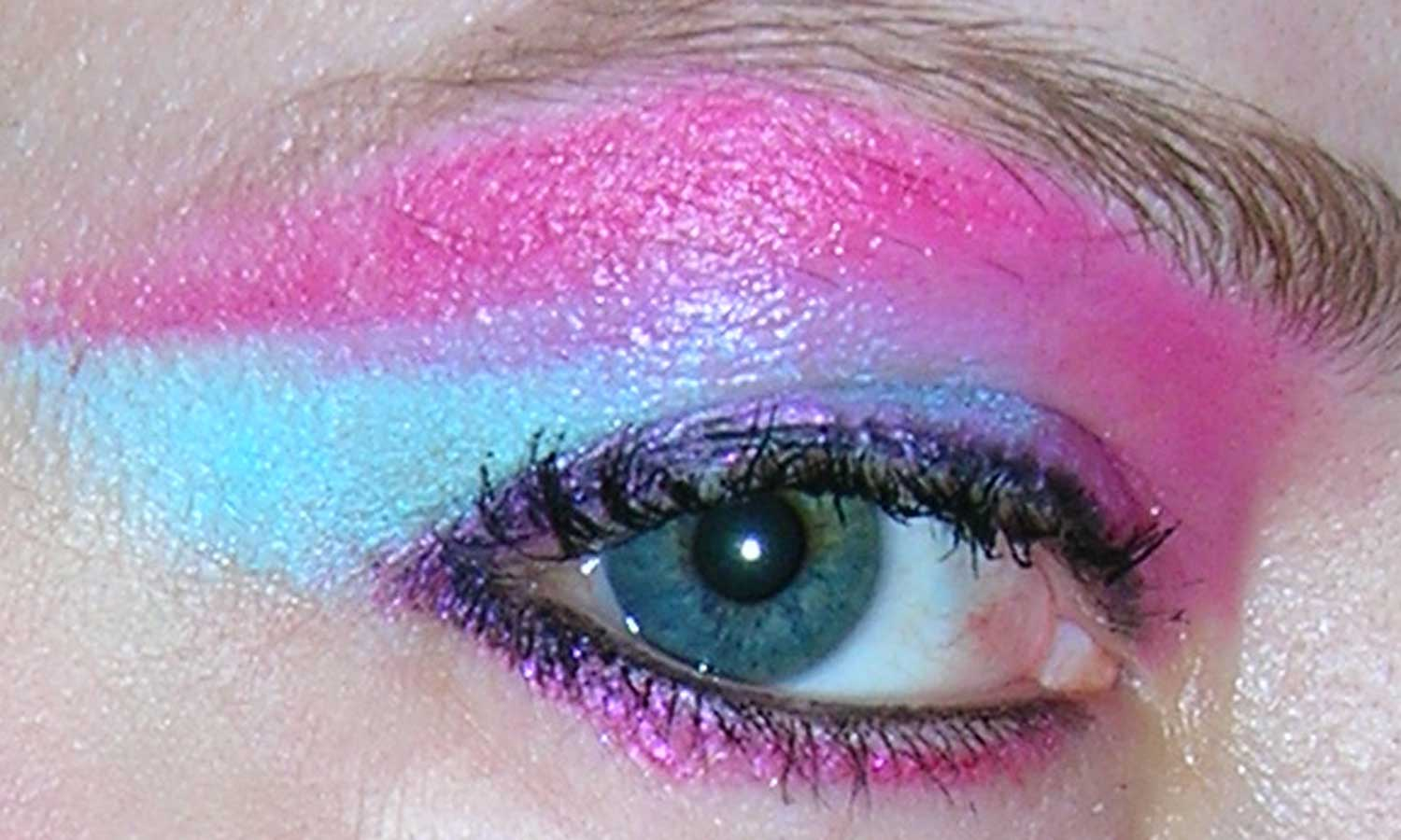 Avant Garde Eyes In Pink And Blue