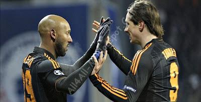 Chelsea , FC Copenhagen, Chelsea players, FC Copenhagen players, Drogba, Anelka, Torres