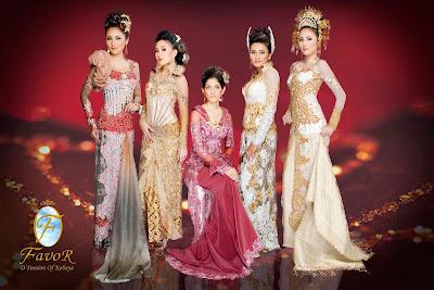 Model kebaya pengantin 2013