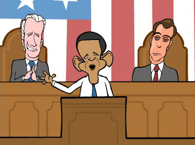 Mark Fiore SOTU cartoon