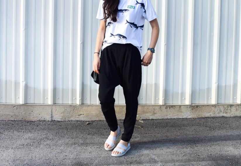 Kai-Aackmann-Harem-Pants-Austin-fashion-blog-Givenchy-Mini-Pandora-Bag-Sporty-Sandals-Only-NY-Korean-style-blogger-Uniform-Wares-Watch