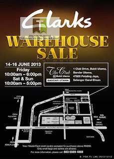 CLARKS Warehouse Sale 2013