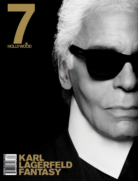 Karl Lagerfeld covers 7 Hollywood Magazine's Winter 2014