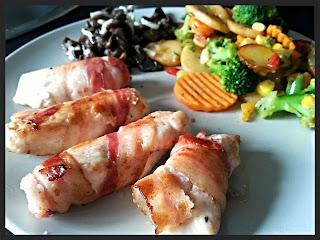 Obiad w 20 minut - kurczak zawijany w plastrach boczku