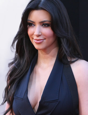 Kim Kardashian hot breast