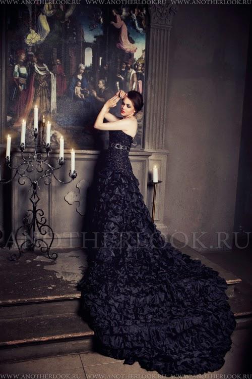 фотосессия в черном платье