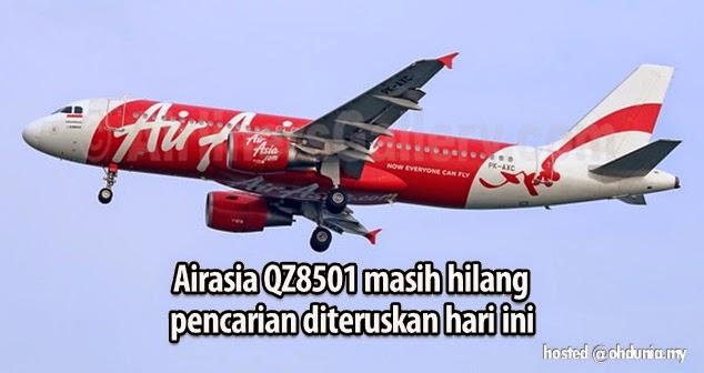 Masih hilang - Pencarian AirAsia QZ8501 diteruskan jam 7 pagi ini