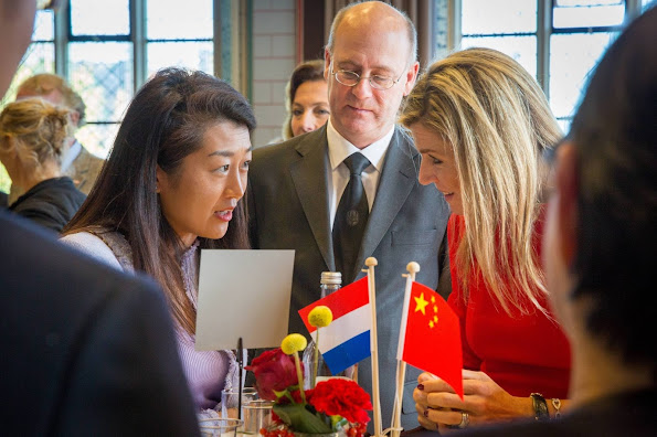King Willem-Alexander of The Netherlands and Queen Maxima of The Netherlands attends the symposium about 'China in The Netherlands