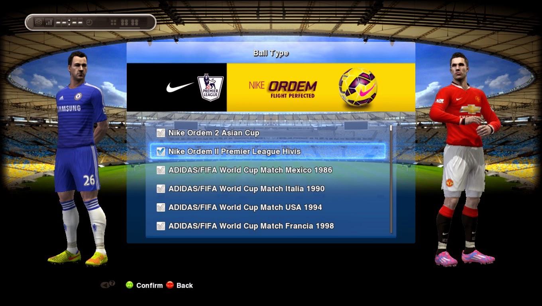 PES 2013 Nike Ordem II Hi-Vis Premier League 14-15 Ball by Tanapon1