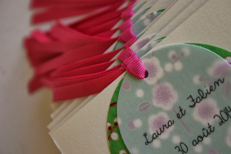Fleur de pommier dans son atelier un mariage champ tre chic et boh me - Faire part boheme chic ...
