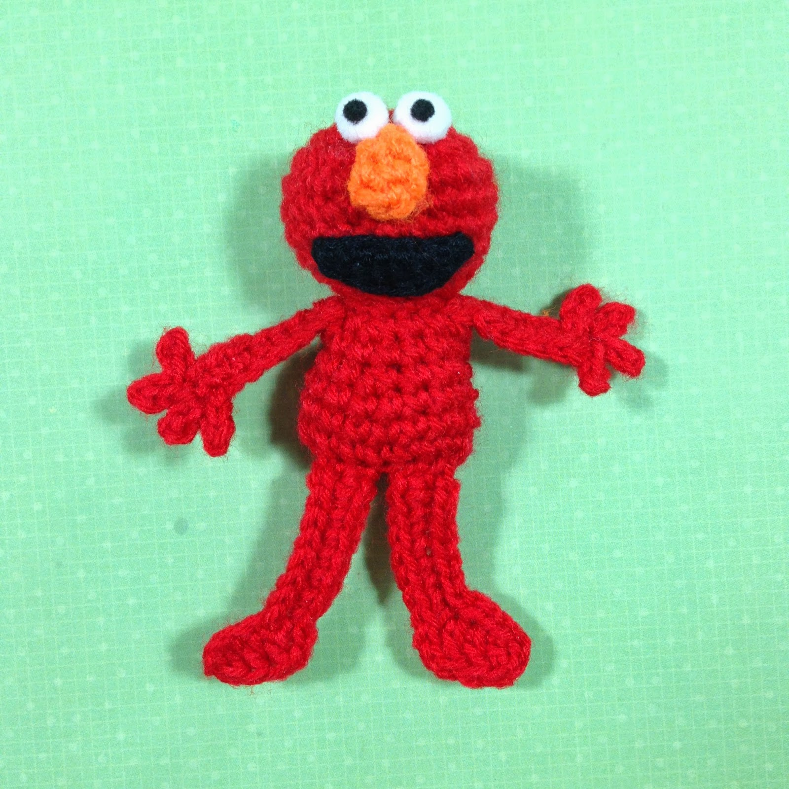 stuff susie made: Mini Crochet Elmo - free crochet ...