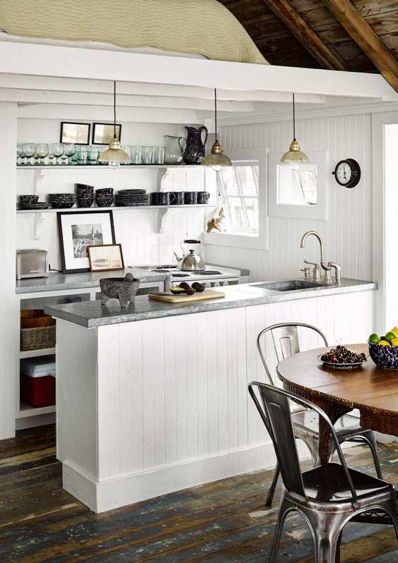 cocina blanca casa de playa