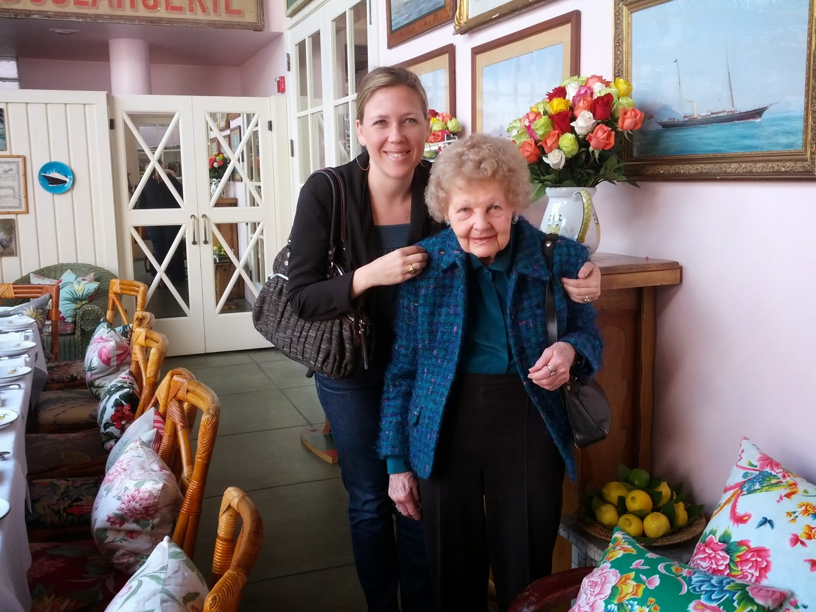 Veronica with her grandmother in California, January 2013