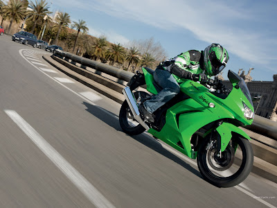 2011 Kawasaki Ninja 250R Action